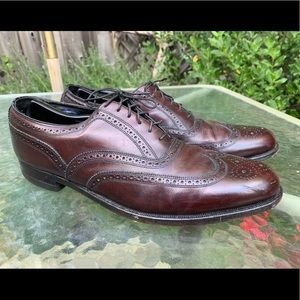 FLORSHEIM VTG Brown Wingtip Shoes Sz 12 D